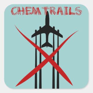 Chemtrails es incorrecto pegatina cuadrada