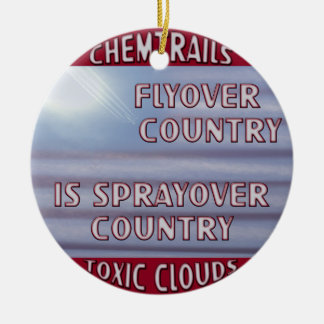 Chemtrails - Flyover Country to Sprayover Country Christmas Tree Ornaments