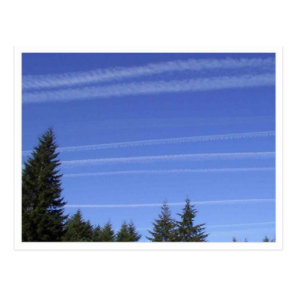 Chemtrails In Northwestern USA Postcard