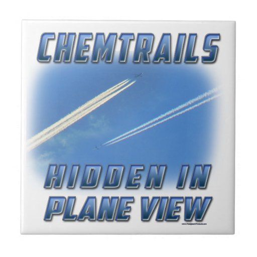 Chemtrails in Plane View Ceramic Tiles