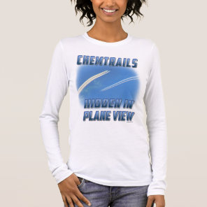 Chemtrails in Plane View Long Sleeve T-Shirt