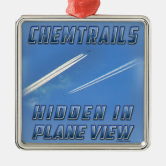 Chemtrails in Plane View Christmas Ornament