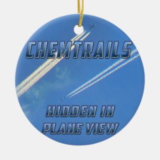 Chemtrails in Plane View Christmas Tree Ornaments