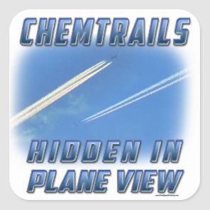 Chemtrails in Plane View Square Sticker