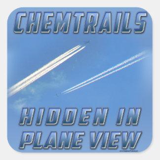 Chemtrails in Plane View Sticker