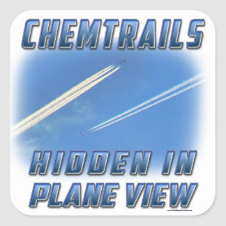 Chemtrails in Plane View Stickers