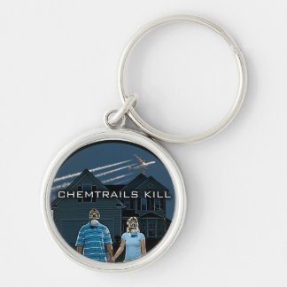 CHEMTRAILS KILL KEYCHAIN