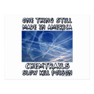 Chemtrails - Made in America Postcard