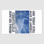 Chemtrails - Made in America Rectangular Sticker