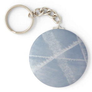 Chemtrails Over Spain Keychain