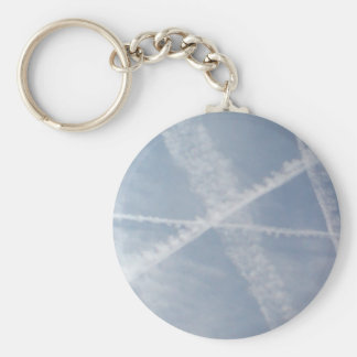 Chemtrails Over Spain Keychains