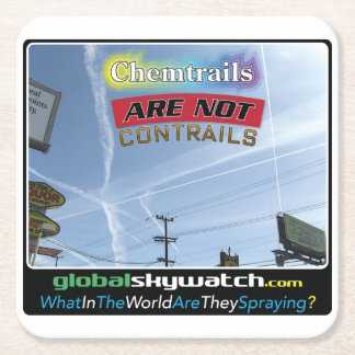Chemtrails Square Paper Coaster