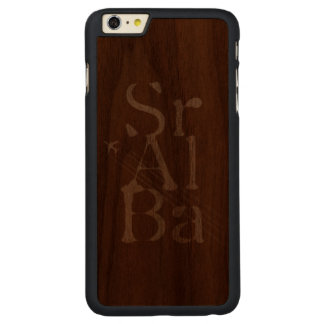 Chemtrails Sr+Al+Ba Carved Walnut iPhone 6 Plus Case