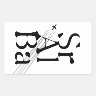 Chemtrails Sr+Al+Ba Rectangle Sticker