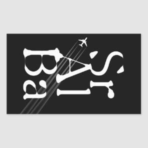 Chemtrails Sr Al Ba Rectangular Sticker