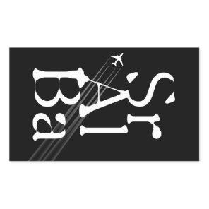 Chemtrails Sr Al Ba Rectangular Sticker