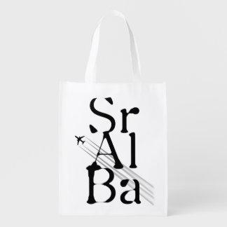 Chemtrails Sr+Al+Ba Reusable Grocery Bags