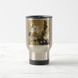 Chen Hongshou Magnolia and Erect Rock Travel Mug