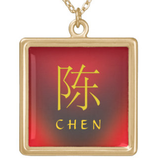 Chen Monogram Gold Plated Necklace