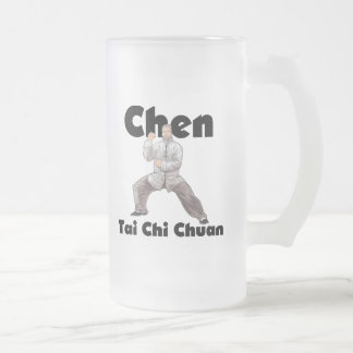 Chen Tai Chi Chuan Frosted Glass Beer Mug