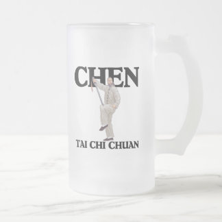 Chen Tai Chi Chuan - Straight Sword Frosted Glass Beer Mug