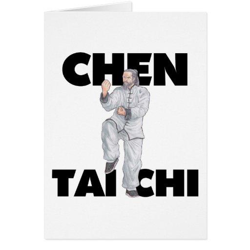 Chen Tai Chi T-Shirts - White Ape Presents Card