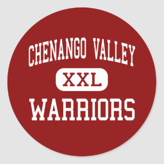 Chenango Valley - Warriors - Junior - Binghamton Classic Round Sticker