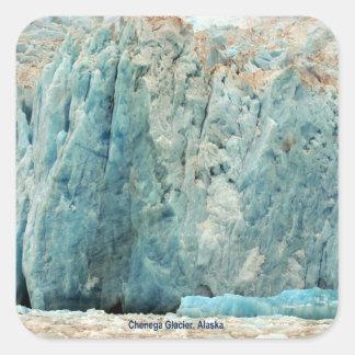 Chenega Glacier, Alaska Square Sticker
