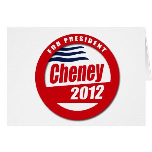 Cheney 2012 Button Card