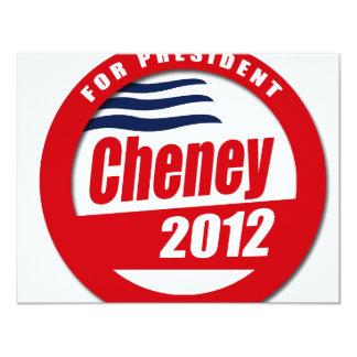 Cheney 2012 Button Invitations