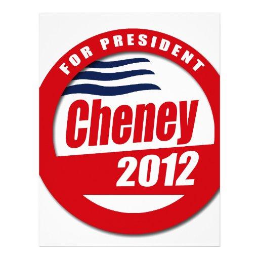 Cheney 2012 Button Customized Letterhead