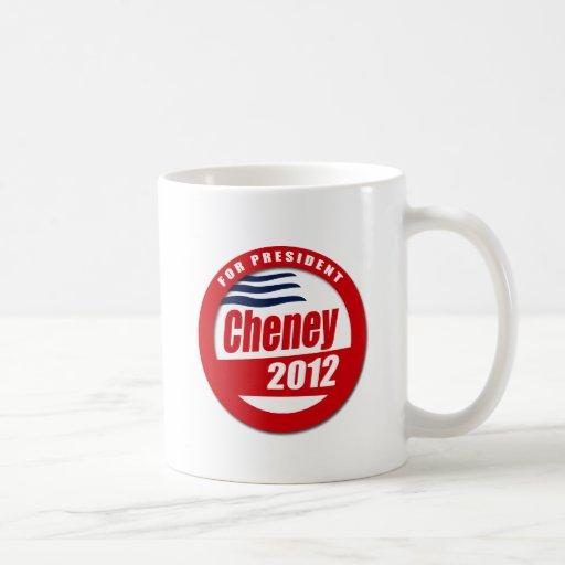 Cheney 2012 Button Coffee Mugs
