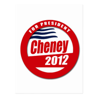 Cheney 2012 Button Post Cards
