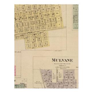 Cheney, Andale, Mulvane, and Milan, Kansas Post Card