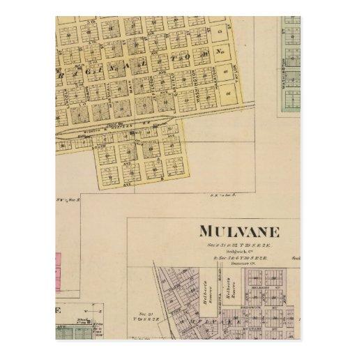 Cheney, Andale, Mulvane, y Milano, Kansas Postal