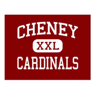 Cheney - Cardinals - High School - Cheney Kansas Postcard