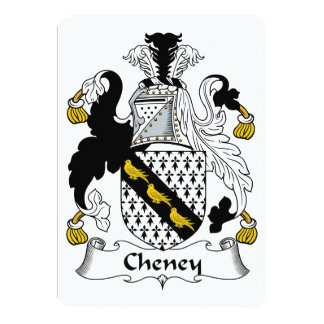 Cheney Family Crest Card