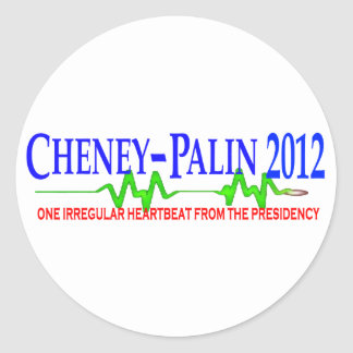Cheney Palin 2012 Classic Round Sticker