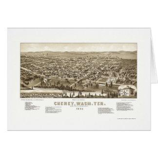 Cheney, WA Panoramic Map - 1884 Cards