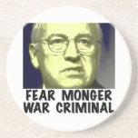 Cheney War Criminal Beverage Coaster