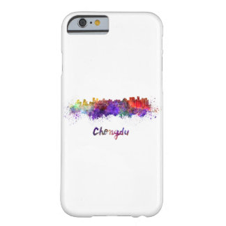 Chengdu skyline in watercolor barely there iPhone 6 case