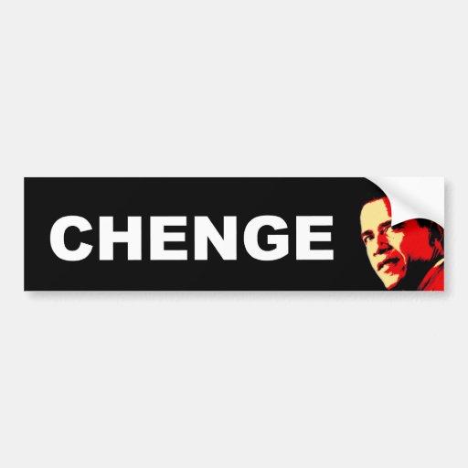 CHENGE BUMPER STICKER