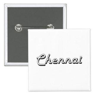 Chennai India Classic Retro Design 2 Inch Square Button