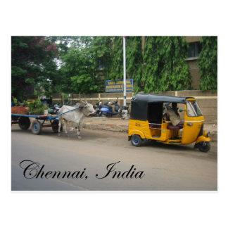 Chennai, la India Tarjeta Postal