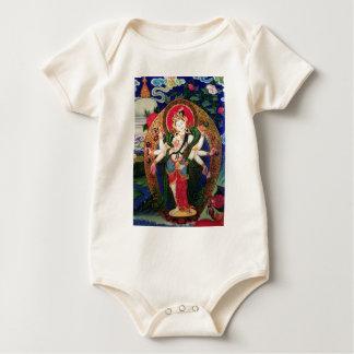Chenrezig_Amogapasha_TIBETAN ART Baby Bodysuit