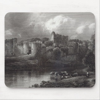 Chepstow Castle, engraved by R. Hinshelwood Mousepad