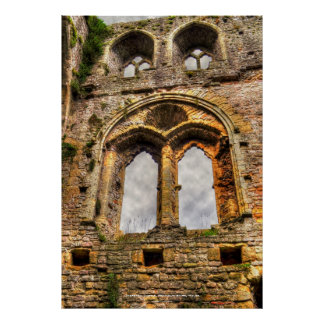 Chepstow Castle Window II, Monmouthshire, Wales Poster