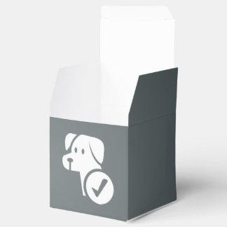Chequeoes del perro mínimos cajas para detalles de boda