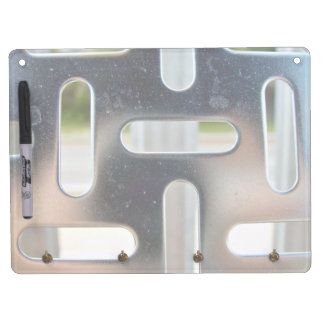 Chequer Plate-cut slots Dry Erase Board