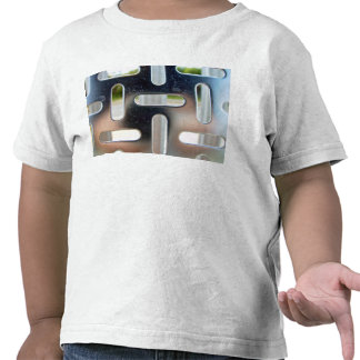 Chequer Plate-cut slots Tee Shirt